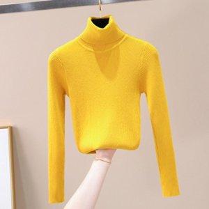 Manley Arty Autunno Inverno donne lavorato a maglia maglione dolcevita morbido casuale ponticello Moda Slim Femme elasticità Maglia Top Novità