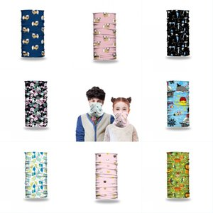 DHL Shipping Seamless Bandana Protection Mask Cute Cartoon Neck Gaiter Adult Kids Scarf Headwear Breathable Face Cover for Cycling L429FA