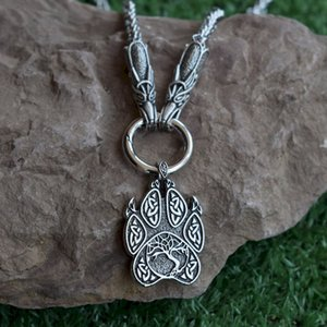 SanLan 1pcs Norse Viking wolf necklace tree of life jewelry