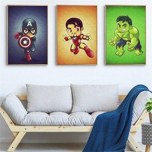 Quadro mini fumetto Marvel Character poster e stampe Superheros Ferro Hulk Thor Decorazione Immagine per il salone Cuadros 3vEn #