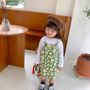 Baby Daisy gedruckt Kleid Herbst neue Kinder Paket Straps geraden Rock Kinder heraus tragen Straps Kleid