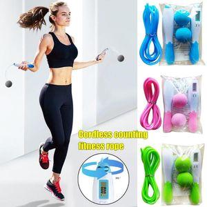 Wireless Skipping elettronico di conteggio corda doppio scopo Calorie PVC Peso-cuscinetto Wireless Physical Fitness Exercise