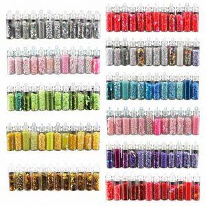 12 BottleNail Glitter Pó Acrílico Gel Polish Flakes prego Sequins DIY Handmade Colored Sequins Manicure Detalhes no E0qY #