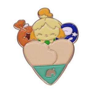 Animal Crossing Isabelle Bell Bag Badge Gamer's Cute Hat Backpack Decor