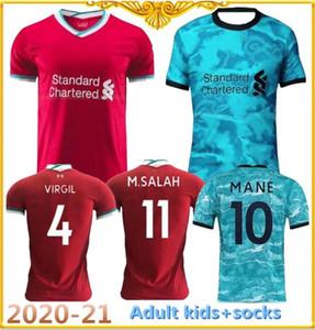New 2020-21 qualidade superior Adult Top camisas dos miúdos Sportswear 2020 2021 casa longe criança Maillot De pé uniformes conjunto de camisa de futebol