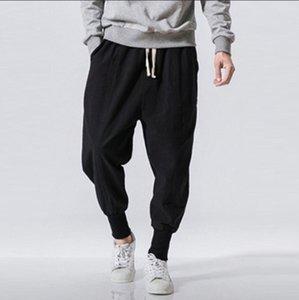 Haremshosen Männer Solide elastische Taillen-Hip Hop-Hose Mens Shrink Cuff Hosen Pantalones Hombre Plus Size 5XL