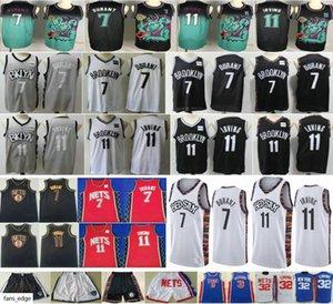 2019-20 New BrooklynNtes #7 Kevin Durant #72 Black Biggie 32 Erving 3 Petrovic 11 Mens Kyrie Irving Man Kids Youth Basketball Jerseys