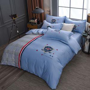 2020 Fábrica cavalo direto de algodão quatro peças Sheet Set 13372 manta de algodão Quilt cama cobrir Hat Cama Adicionar Box L Duvet Cover