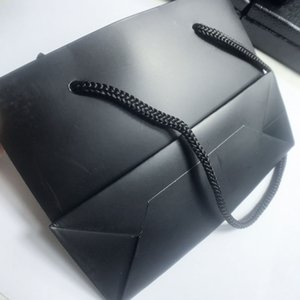 14см Роскошный черный Упаковка мешки подарков C Ювелирные Упаковка Мешки для хранения шкатулке для украшений Аксессуары для волос Подарочные Packin 10шт / LOT SamCC