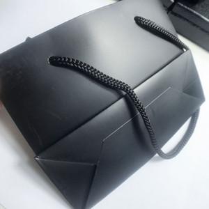 14cm 고급스러운 블랙 포장 가방 선물 C 보석 포장 스토리지 가방 보석 상자 장식 헤어 액세서리 선물 Packin 10PCS / LOT SamCC