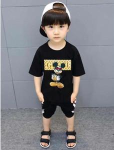 95 # 2020 neue Art und Weise Sommer 3-12 Jahre alt Baby-Mädchen-Druck-T-Shirts beiläufige kurzen Hülsen-Hemd-Oberseiten-Baumwollkind-T-Shirts Kinderkleidung