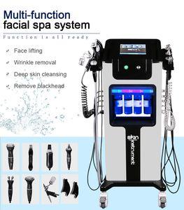 2021 Nouvelle machine hydrafaciale Dermabrasion de la peau de la peau nettoyage de la peau du visage hydrofacial Ultrasound RF Hydra Microdermabrasion d'oxygène