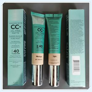 Cosmétiques CC + crème sans huile mat 32ml Poreless Fini la pleine couverture Crème Hydratante Sérum Correcteur DHL Livraison gratuite