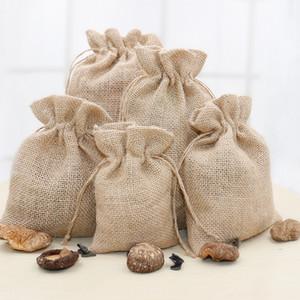 Jute bundle storage Coffee storage Chinese herbal medicine coffee bean bag rice drawstring bag