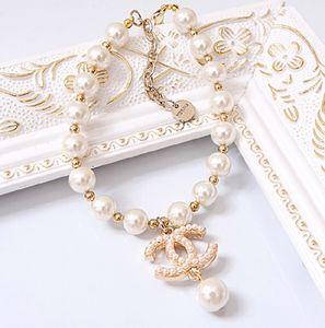 Free shipping grande perla di lusso regolabile Ch ** gioielli cane el cane stile ciondolo collana Piccoli accessori luccicanti per animali domestici