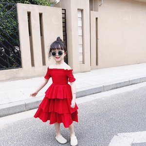 2020 New Girls Dress Girls Summer Dress Casual For Kids Girl 3 4 5 6 7 8 Years Tutu Sweet Red