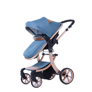 2 Dört Tekerlek Aksesuarlar Avrupa Strollers ile 1 Bebek Arabası Işık Katlama İki yönlü Absorberler Bebek Stroller içinde