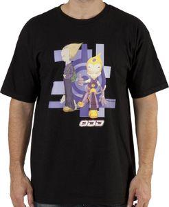 Men # 39s Code Lyoko Odd shirt preto