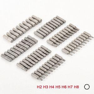 홈 손 공구강 육각 드라이버에 대한 10PCS 1/4 인치 육각 생크 H2 H3 H4 H5 H6 H7 H8 스크류 드라이버 비트 세트 1jTT 번호를 비트
