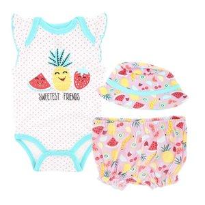 Kavkas 3 PCS 4 PCS Baby Clothes Set Cute Printed Summer Cotton Newborn Baby Romper Sleeveless 0-12 months Boys Girls Clothing