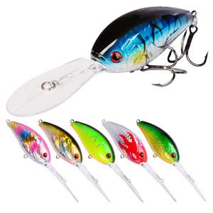 6pcs Lot 11cm 18.5g Bionic Fishing Lure Set Kit Bass Pike Trout Hard Bait Artificial Wobbler Treble Hook Floating Crankbait