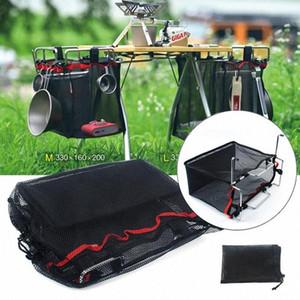 Soporte al aire libre de alambre de malla de escritorio colgantes bolsa de red para barbacoa Herramientas bolsa Organizador RlT6 #