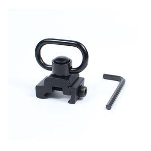 Quick Release Heavy Duty Detach кнопочный Sling Поворотный адаптер Установить Пикатинни Основание для крепления 20 мм Подключение Sling кольцо