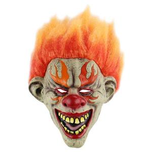Halloween Realistisch Terrifying Offenes Horrible Flamme Clown Maske Cosplay-Kostüm-Partei Props Maskerade Supplies