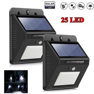 25 Solar LED Luz al aire libre impermeable de la lámpara solar del jardín de movimiento PIR sensor solar Seguridad Luz La luz del sol Powered pared Iluminación