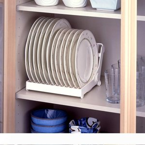 High quality foldable dish plate drying rack organizer drainer plastic storage holder kitchen accessories,Free shipping. T200319