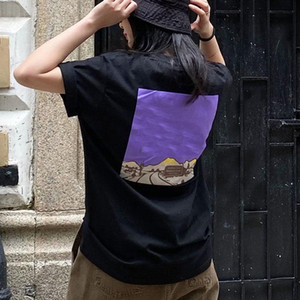 kurzärmeliger Baumwolldruck Mode für Männer und Frauen der Frauen der Männer T-Shirt paar Kleidungsoberbekleidung 2020 neue T-Shirt Damen