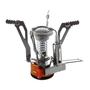 Outdoor Picnic Gas Burner Portable Camping Mini Steel Stove Case Gold And Hiking And Camping Camping & Hiking Silvertfvj#