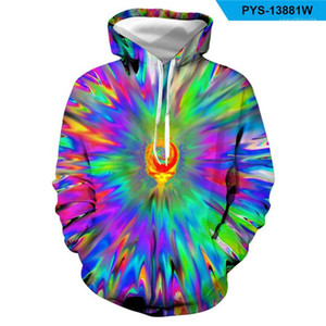 Mens Pullover Casual Hoodies Fashion Colorful Loose Long Sleeve Hooded Sweatshirts Homme High Street Clothes