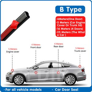 Car Wash & Maintenance Fillers, Adhesives & Sealants Car Door Rubber Seal Strip B type Auto Door Seal Sticker Sound Insulation B