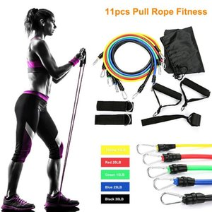 11Pcs Resistance Bands Set Expander Yoga Exercise Fitness Rubber Tubes Band Stretch Training Gym Workout Elastic Pull Rope