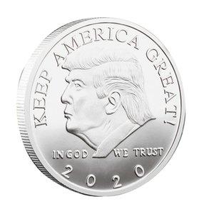 Trump монеты Памятная монета Американский сорок пятый президент Дональд Craft Souvenir Золото Серебро Металл Знак Коллекция Non-валюта DWE295