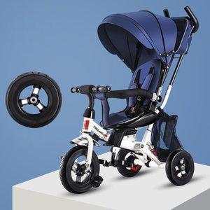 bebek üç tekerlekli çocuk arabası için üç tekerlekli bisiklet bebek arabası döner koltuk arabası Katlanabilir