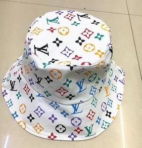 Оптовая конструктор Кожа Письмо Bucket Hat для женщин людей Складной Колпачки Черного Fisherman Бич ВС Visor Продажа Складной Man Bowler Cap Casua