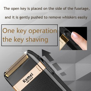 Kemei Electric Shaver For Men Twin Blade Reciprocating Cordless Razor Hair Beard Usb Rechargeable Shaving Machine Barber Trimmer fvzBY