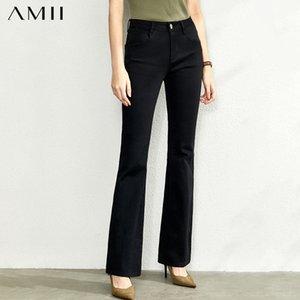 AMII Mode Loisirs Jeans Nouveau Pantalon Épasé Slim pour l'automne High Taille Solide Olstyle Pantalon 11920208