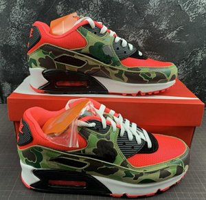 2020 Mens 90s Running Shoes Designer Atmos 90 Reverse Duck Camo Red off Sneakers 90 Trainers classic Sports Chaussures zapatos