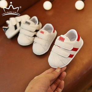 New Baby Shoes Sneakers Solid Color PU Leather Soft Cotton Baby Boy Shoes Non-slip Newborn Toddler Boy Girl First Walkers