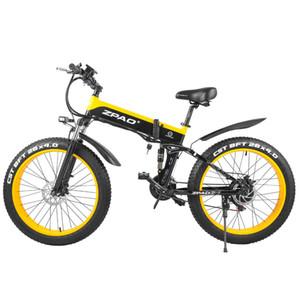 ZPAO Fat bicicleta elétrica 1000W baratos Praia Cruiser bicicleta elétrica 4.0 Fat Tire bicicleta elétrica 48V Mens Mountain Bike Neve E-bicicleta