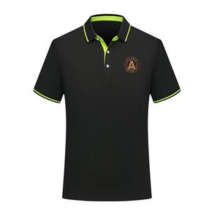 Atlanta United FC marca premium camisas pólo homens novos do esporte lapela elegante suor absorvente ocasional de futebol equipado camisas pólo de manga curta