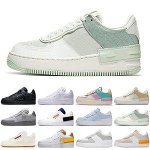 nike air force airforce forces 1 tipo di ombra moda 1 N354 uomini donne scarpe da mens grigio nebbia triple nero bianco pallido vela womens allenatori sportivi sneakers corridori