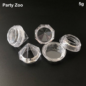 500 X 5G / 5ml clair Petit diamant pot de crème de forme pour Cosmetic Sample Container Pot crème