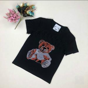 Les femmes de T-shirt d'été Mode avancée Importé chaud diamant super flash Lettre modèle T-shirt Tendance Taille S-2XL pour hommes