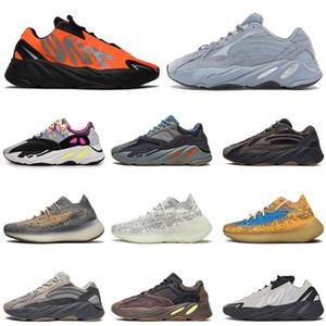 YENİ 700 Hastane Mavi Turuncu Mor Mavi Yulaf Bayan Erkek Koşu Ayakkabı Kanye West 700 v3 Mist yansıtıcı Moda Erkek Eğitmenler boyutu 36-45