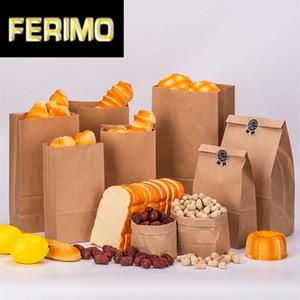 100pcs Yüksek Kalite Kraft Kağıt Çanta Küçük Hediye Çanta Bag Ekmek Partisi Paketleme Hediye Paket Çevre dostu Sandwich