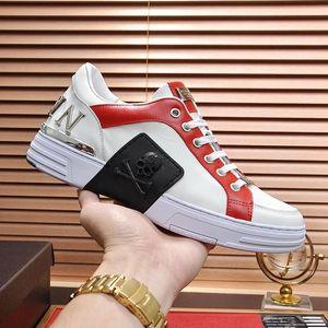 DesignersPHILIPPPLEINPPNew Arrival Men s Sports Shoes Plus Size Fashion Luxury Lace-up Sneakers Low Top Breathable Shoe
